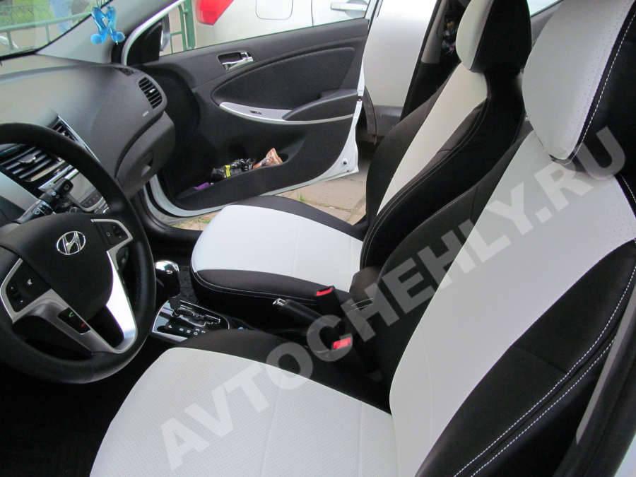 Кожаные чехлы для авто 21093 из натуральной кожи